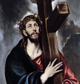 Jesus carrying the cross, by El Greco, cropped