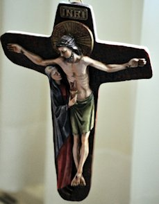 Crucifix with Jesus and Mary